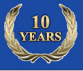 10 years of service excellence